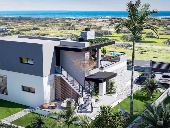 Роскошная 4-х спальная вилла с центральным отоплением, мебелью, бассейном и панорамными видами на Средиземноморье, купить дом в Кирения