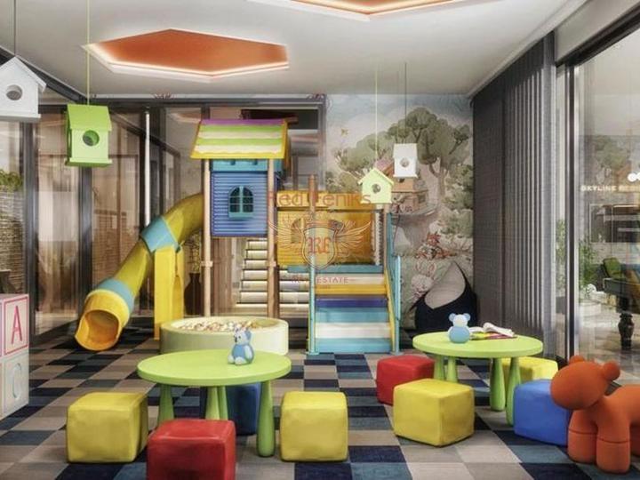 4 этажные виллы с собственным лифтом 6+1 в 4,5 км от пляжа в Коньяалты, купить дом в Анталия