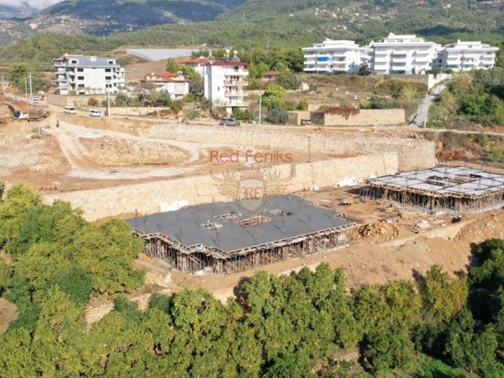 Двухуровневый люкс пентхаус 3+2 в элитном комплексе в Алании, Квартира в Алания Турция
