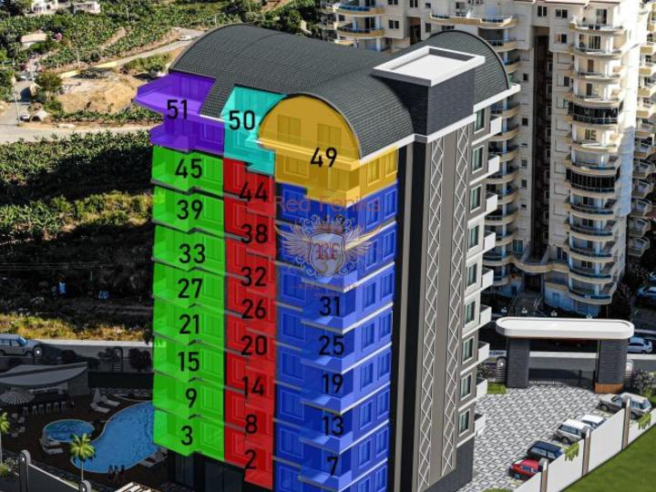 Квартиры 3+1. 165 м2 в Алании. Каргыджак, купить квартиру в Алания