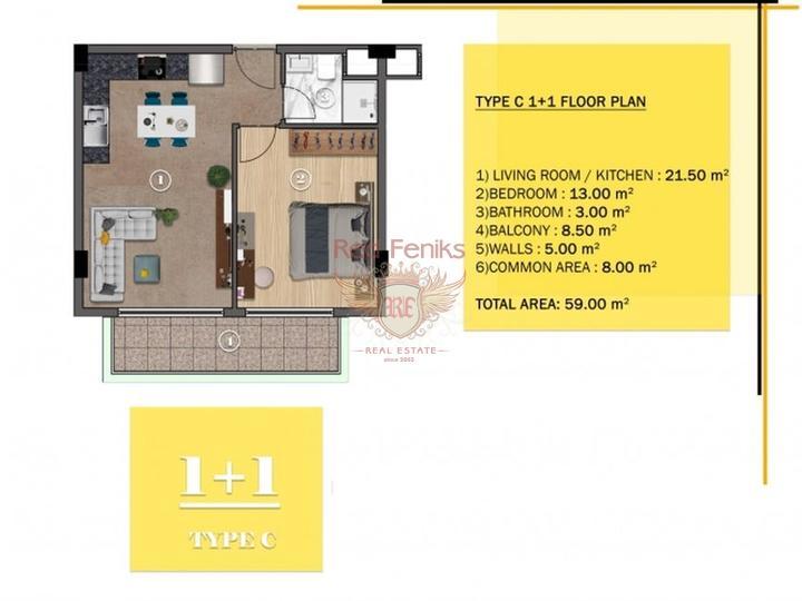 Gold City. Lovely 5 Bedroom Detached Villa, buy home in Turkey, buy villa in Alanya, villa near the sea Alanya