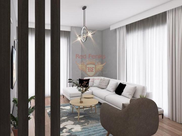 Апартаменты 2+1 в новом жилом комплексе в Мерсине, Квартира в Мерсин Турция