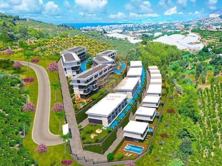 4 этажная вилла высокого качества 5+1 270 кв.м в 4 км от пляжа, Вилла в Анталия Турция
