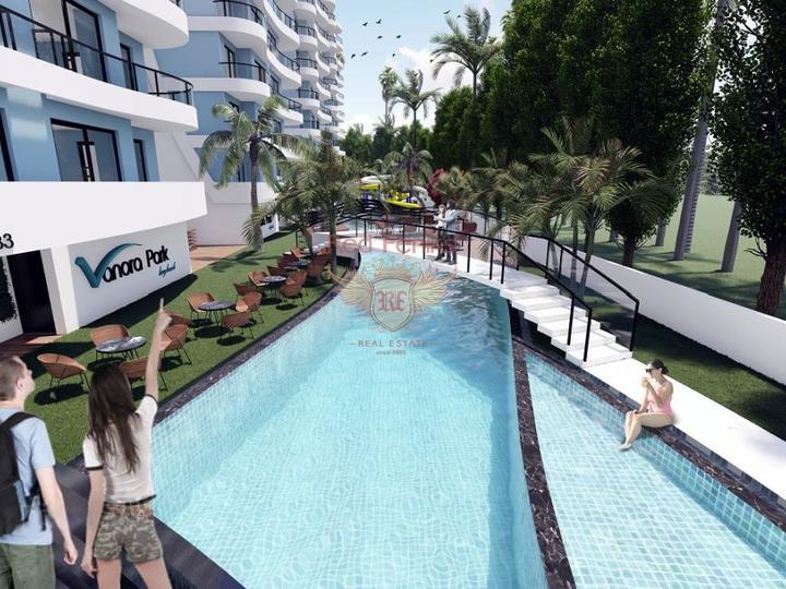Neues Projekt, 2 + 1 Wohnungen (Maisonetten) in Oba, Alanya, Wohnungen in Turkey, Wohnungen mit hohem Mietpotential in Turkey kaufen
