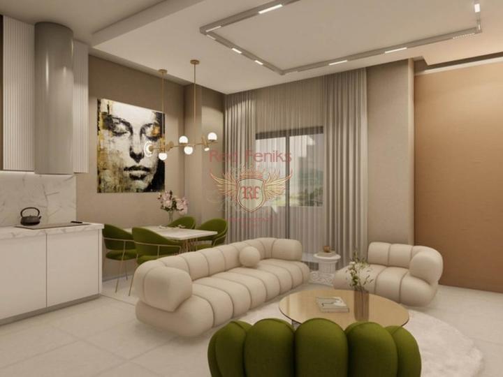 Апартаменты 2+1 в новом жилом комплексе в Мерсине, купить квартиру в Мерсин