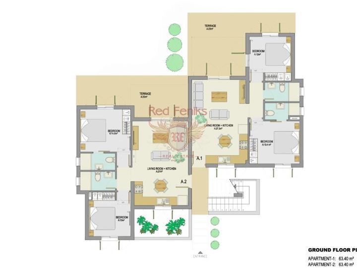 Пяти комнатная вилла на перепродажу + 8m x 5m бассейн + полностью мебелированная, Дом в Кирения Северный Кипр