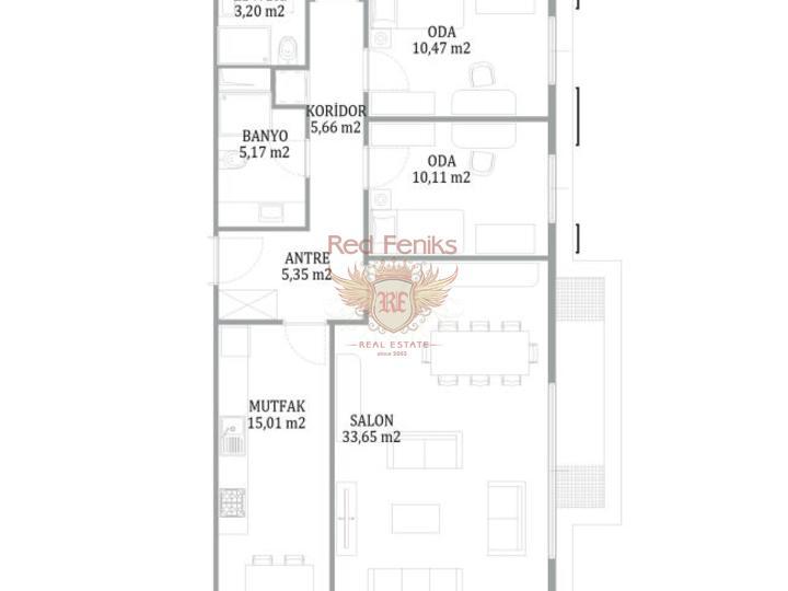 Недвижимость в Стамбуле. Кандилли люкс апартаменты 2+1, купить квартиру в Стамбул
