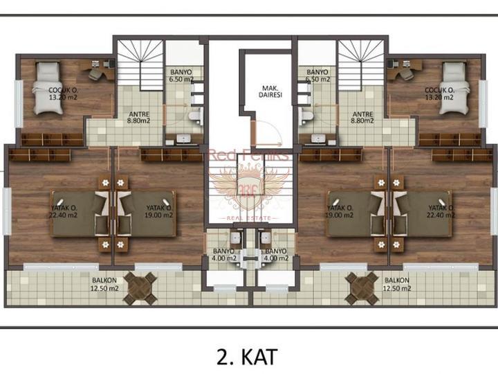 Высокодоходный дом из 15 Квартир разных планировок в 200 метрах от моря, купить коммерческую в Анталия
