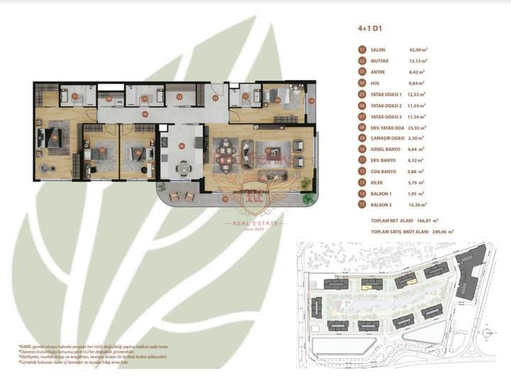 Квартира в Алании 2+1 на первой линии в новом жилом комплексе, Квартира в Алания Турция