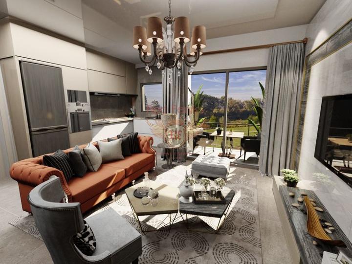 Двухуровневый люкс пентхаус 3+2 в элитном комплексе в Алании, купить квартиру в Алания