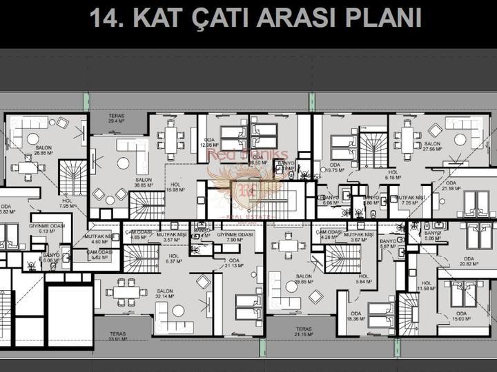 Продажа квартир в Махмутларе, Алания, Квартира в Алания Турция