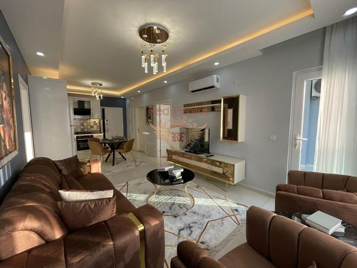Новая квартира с боковым видом на море, Квартира в Алания Турция